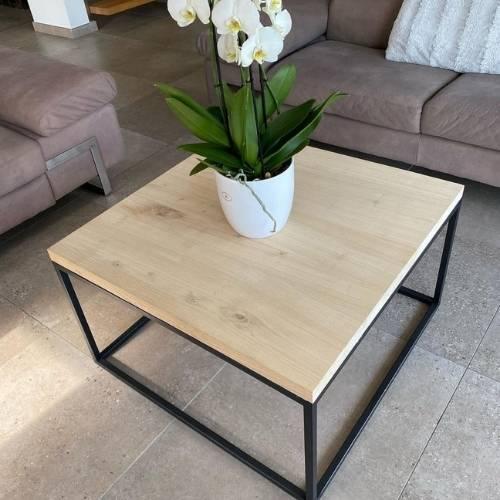 Table basse création bois et métal